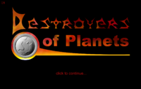 Destroyers of Planets