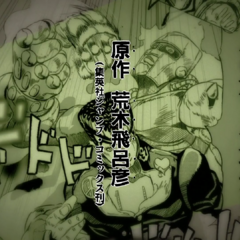 Josuke pummeling in the first opening
