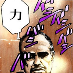 Marlon Brando as The Godfather, as he appears in <i>Stardust Crusaders</i>