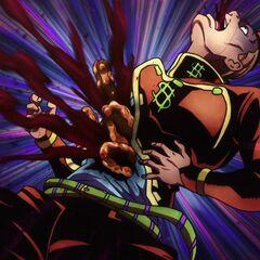 Okuyasu's intestines being replaced.