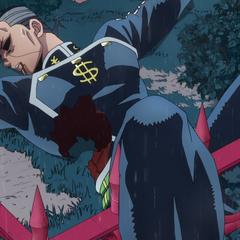 Okuyasu lying unconscious.