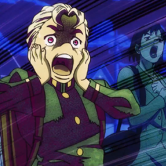 Koichi screams in terror during a robbery.