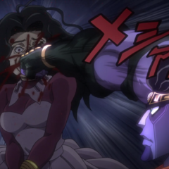Star Platinum punches <a href=