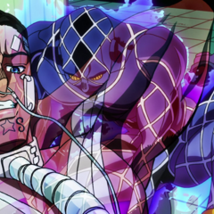 Yuya attacks Josuke, draining his nutrients with his <a href=