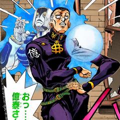 Okuyasu returns from a seemingly fatal injury to save Josuke