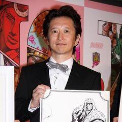 Araki at the Hirohiko Araki JoJo Exhibition 2012