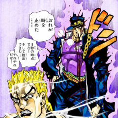 Jotaro successfully stops time