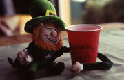 He says if you show him your lucky charms, he'll show you his shillelagh