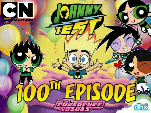 File:Johnny Test 100th Episodes With Powerpuff Girls Green Characters.jpg
