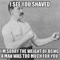 Overly Manly Man Shaving