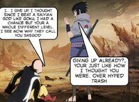 One Punch Man Learns His Errors Before Lord Sasuke