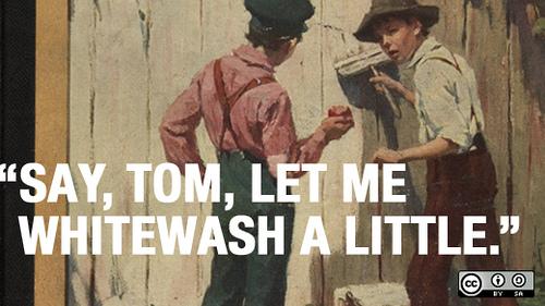 File:Tom Sawyer, whitewashing fences, and building communities online.jpg