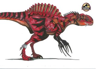 Jurassic Park Therizinospinus by hellraptor