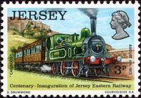 Jersey 1973 Centenary of Jersey Eastern Railway b