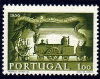 Portugal 1956 Centenary of Portuguese Railways a