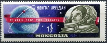 Mongolia 1961 Yuri A. Gagarin 1st Man in Space d