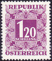 Austria 1949 Postage Due Stamps - Square frame with digit (1st Group) l.jpg