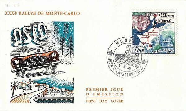 Monaco 1962 31th Monte Carlo Automobile Rally c