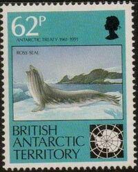 British Antarctic Territory 1991 30th Anniversary Antarctic Treaty d