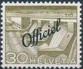 Switzerland 1950 Engineering - Switzerland Postage Stamps of 1949 Overprinted Officiel f.jpg