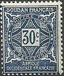 French Sudan 1931 Postage Due e