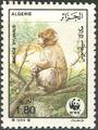 Algeria 1988 WWF - Barbary Macaque d.jpg
