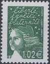 France 2002 Definitive Issue - Marianne de Luquet n