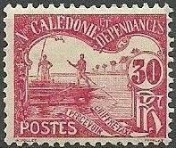New Caledonia 1906 Men Poling (Postage due Stamps) e