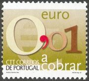 Portugal 2002 Euro Coins (Postage Due Stamps) a