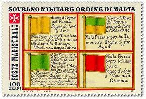 Sovereign Military Order of Malta 1977 Antiche Segnalazioni Delle Marinerie Dell'Ordine b