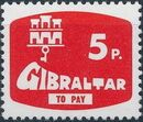 Gibraltar 1976 Postage Due Stamps c