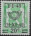 Belgium 1949 Coat of Arms, Precanceled and Surcharged d.jpg