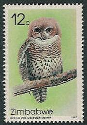 Zimbabwe 1987 Native Owls a