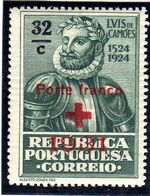 Portugal 1931 Red Cross - 400th Birth Anniversary of Camões b