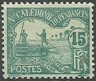 New Caledonia 1906 Men Poling (Postage due Stamps) c