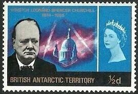 British Antarctic Territory 1966 Churchill Memorial a