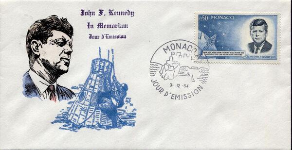 Monaco 1964 Pres. John F. Kennedy and Mercury Capsule h
