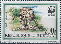 Burundi 1992 WWF Leptailurus serval c