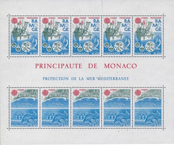 Monaco 1986 EUROPA - Nature Conservation c