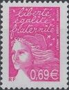 France 2002 Definitive Issue - Marianne de Luquet l