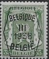 Belgium 1938 Coat of Arms - Precancel (3rd Group) e.jpg