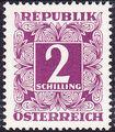Austria 1949 Postage Due Stamps - Square frame with digit (1st Group) o.jpg