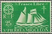 St Pierre et Miquelon 1942 Fishing Schooner St. Malo c