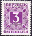 Austria 1951 Postage Due Stamps - Square frame with digit (3rd Group) e.jpg