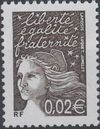 France 2002 Definitive Issue - Marianne de Luquet b