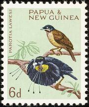 Papua New Guinea 1964 Birds a