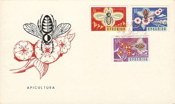 Romania 1963 Bees & Silk Worms j