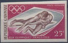 Gabon 1968 19th Summer Olympic Games Mexico City e