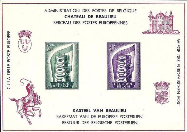 Belgium 1956 Europa c