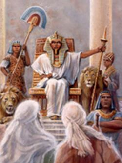 Moses before Pharaoh